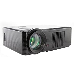 HD 1080P LED Projector SUPPORTS HDMI,USB,DTV,COMPONENT 16: 9 and 4:3 black