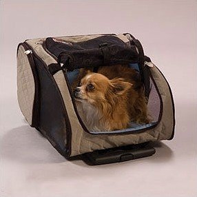 Wheel Around Travel Pet Carrier Khaki - Small Dog Dogs Cat Cats Carriers Airport Approved Air Travel