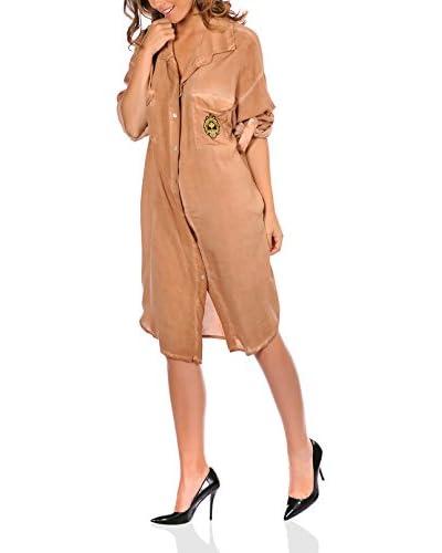 Jo & Jill Hemdblusenkleid Maia camel