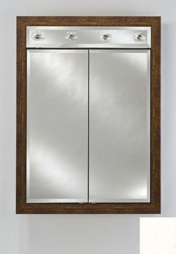 Signature Double Door Medicine Cabinet Lights Finish: Arlington White, Size: 24