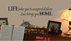 OneHouse Life Takes You to Unexpected Places Word Art Decor Home Decor Wall Sticker by OneHouse