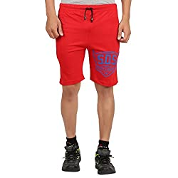 DKClues Mens Red Color Graphic Shorts