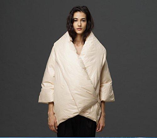 MYM Nuovo per autunno/inverno sciolto maniche corte anatra bianca gišŽ nove donne piumino piumino in bianco e nero (dimensione) , cream color , m