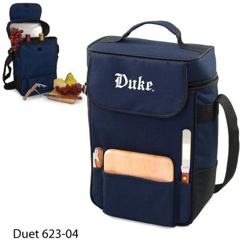 Duke Blue Devils Duet Insulated Wine and Cheese Tote - Navy w/Embroidery at Amazon.com