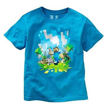 Minecraft Adventure Youth T-shirt, Turquoise, YM