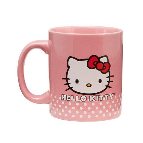 Vandor 18061 Hello Kitty Ceramic Mug, Pink, 12-Ounce