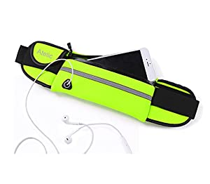 #1 Sac de Course, Atelic® Waist Pack Running Bag Runner Belt Pouch Girl Boy Water Resistant Reflective - Outdoor Cycling Running Hiking Trip Pack Fitness Gym