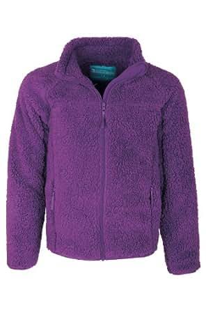 Mountain Warehouse Yogi Sweat Pull Enfants Fille Garçon Polaire Doux Hiver Chaud Fermeture Zippée Violets 104