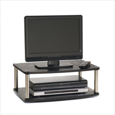 Image of Convenience Concepts Two Tier Swivel TV Stand (191024) (B005EUFS62)