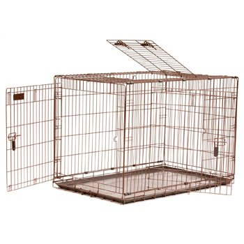 Precision Pet 42 By 28 By 31-Inch 3-Door Great Crate With Lock System And Quiet Links, Size 5000, Copper Hammertone