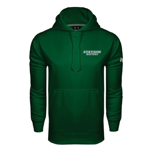Stetson Under Armour Dark Green Performance Sweats Team Hood 'Stetson Hatters'