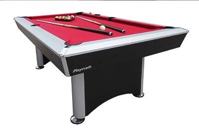 Playcraft Sprint Red Cloth Pool Table, Black/Grey