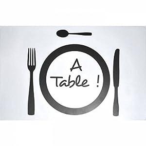 Set de table Transparent A table