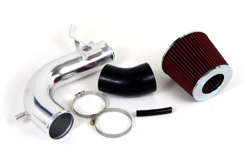 09-12 Acura Tsx 4Cyl 2.4L Polish Shortram Air Intake Kit W/ Red Filter 10 11 front-551523