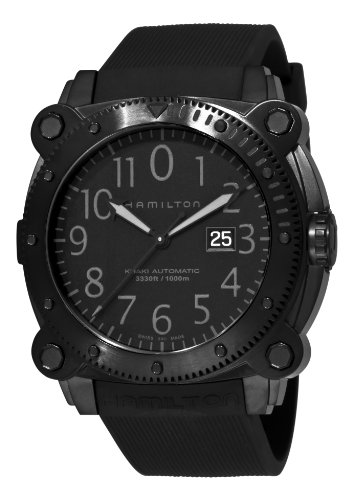 Hamilton Men's H78585333 Khaki Navy BelowZero Black Dial Watch
