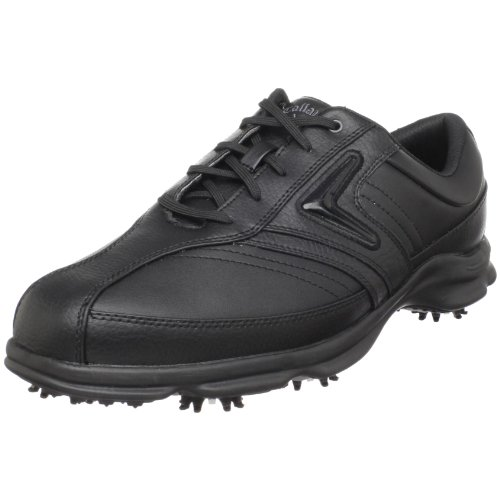 Callaway Men's C-Tech Saddle Golf Shoe ,Black/Black,10 M US