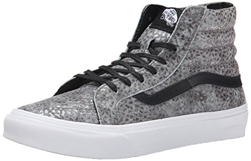 Vans - U Sk8-Hi Slim Pebble Snake, Sneakers, unisex, Grigio (pebble snake/gray/black), 38
