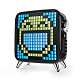 Divoom Tivoo Max Smart Portable Bluetooth LED Speaker with APP-Controlled Pixel Art Animation, Notification and Build- in Clock/Alarm, 6.42X7.26X3.39 inch (Black) (Color: Black, Tamaño: Large)