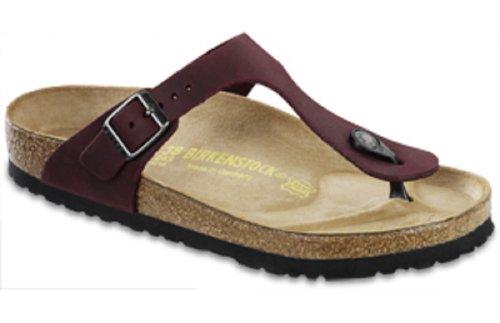 BirkenstockBirkenstock Womens Gizeh Zinfandel Oiled Leather Sandal 84383 (37 N EU, Zinfandel)