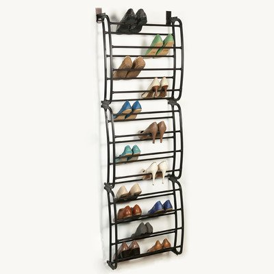 36 Pair Over the Door Shoe Rack Finish: Bronze (Over Door Metal Rack compare prices)