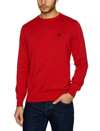 Henri Lloyd Moray Crew Knit Men's Jumper Cowes Red X-Large