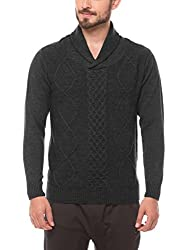 Shuffle Men's Sweater (8907423023215_2021521801_Medium_Grey)