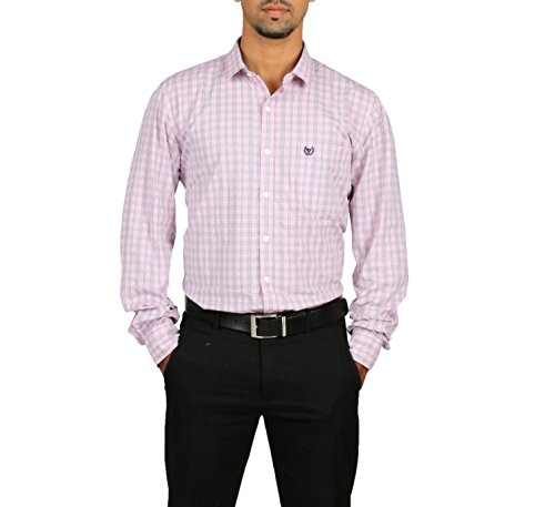 VETTORIO FRATINI By Shoppers Stop - Yarndyed Checks Shirt With Contrast Collar Band ,Sleeve Cuff And Inner Placket... - B00VV6K3O0