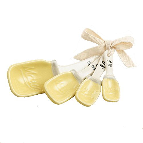 Mason Jar Measuring Spoons Ceramic - Yellow (Mason Jar Measuring Spoons compare prices)