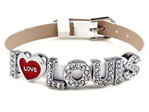 I Love Louis One Direction I Love Id Member White Wristband Bracelet Link Wrist Band from Yiwu City Yinuo E-Commercial Business Co.,Ltd