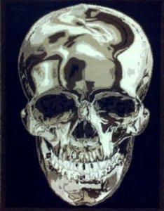 Skull Rug 5 Ft. 2 In. X 7 Ft. 3 In. Black Design #134