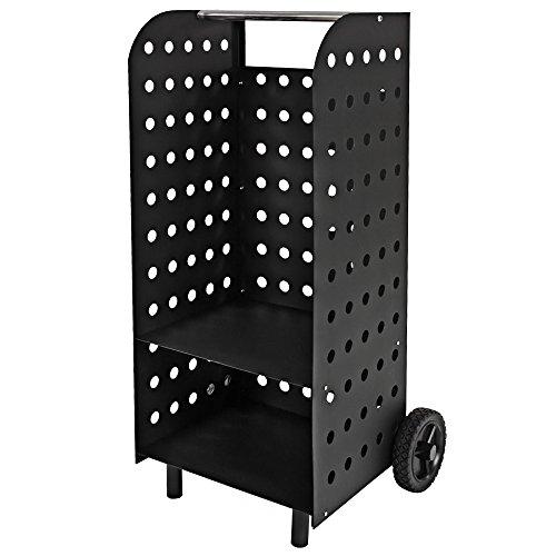 Tectake carrello portalegna in legno caminetto camino - Porta legna per camino ...