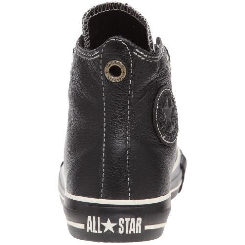 Converse MENS ALL STAR LEATHER HIGH SHOES - Black and White - Mens - 5.5