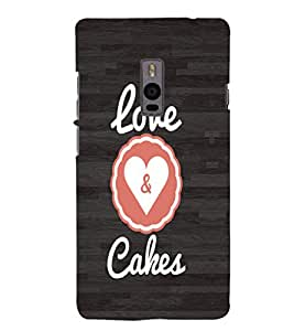 EPICCASE Cake love Mobile Back Case Cover For OnePlus 2 (Designer Case)