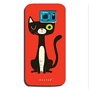 Mozine Winking Kitty printed mobile back cover for Samsung s6