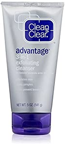 Clean & Clear ADVANTAGE 3-In-1 Exfoliating Cleanser, 5 Ounce