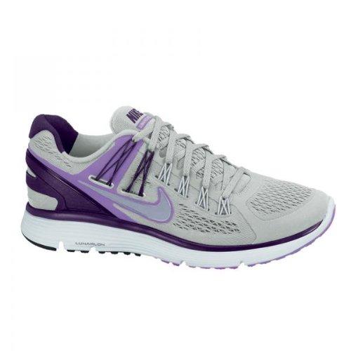 Femmes Nike Lunar Eclipse + 3 chaussure de course ES13: Strata Gris / Argent Reflec / Grand Violet