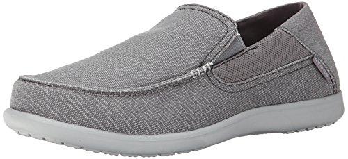 Crocs Santa Cruz 2 Luxe M, Sneaker basse uomo, Colore Grigio (Charcoal/Light Grey), Taglia 46-47