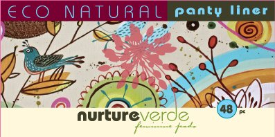 Nurture Verde 100% Natural Fully Compostable Panty Liner (48-count)