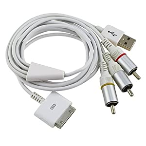 SANOXY® Composite AV TV Video USB Cable for All Iphone Ipad and Ipod,itouch