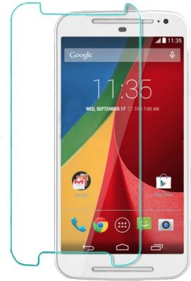 Techno TZ Premium Quality Tempered Glass Ultra HD Exposion Proof 9H Thin 2.5D Screen Scratch Guard Resistant Protector Shock Absorbing Hardness Shatterproof Motorola Moto G 3 (3rd generation)