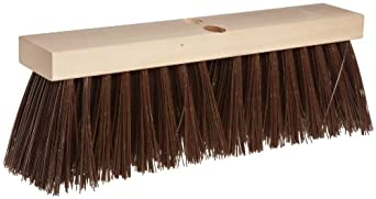 "Magnolia Brush 18"" Block Length, Brown Polypropylene Plastic Street Broom, (Carton of 6)"