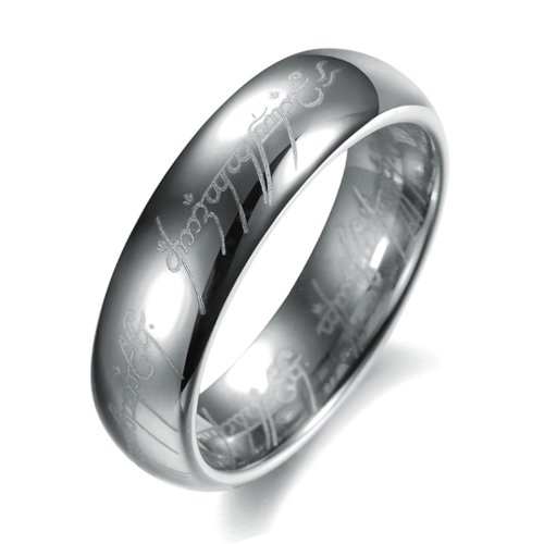 The Lord of Rings Fashion Tungsten Carbide Ring Toy Game Ring Mens Jewelry Gold Black Silver Celtic Dragon (139, 11)
