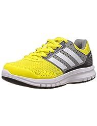 Adidas Unisex Duramo 7 K Bright Yellow, White And Grey Mesh Sneakers - 12C UK