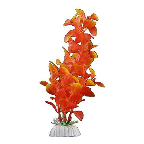 plante artificielle orange en plastique d coration aquarium. Black Bedroom Furniture Sets. Home Design Ideas