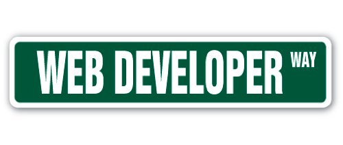 WEB DEVELOPER Street Sign design website designer site internet gift programmer