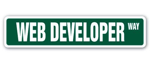WEB DEVELOPER Street Sign design website designer site internet gift programmer
