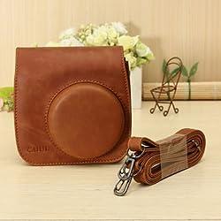 6 Colors PU Leather Camera Case Shoulder Bag For Fuji Fujifilm Intax Mini 8/8s - Brown