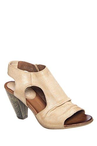 Michelle Mid Heel Peep Toe Sandal