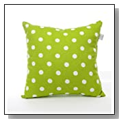 Dottie Small Green Dot Pillow