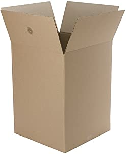 "Caremail Recycled Shipping Boxes, Large, 16"" x 16"" x 15"", Brown, 12-Pack (1143585)"